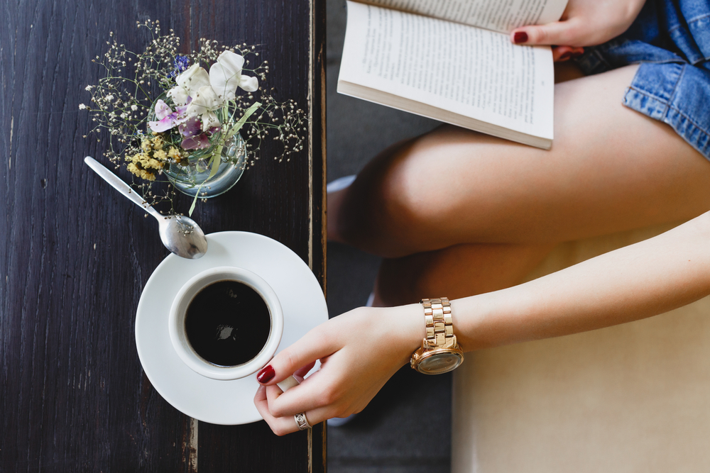 Coffee and a good book is all I need
